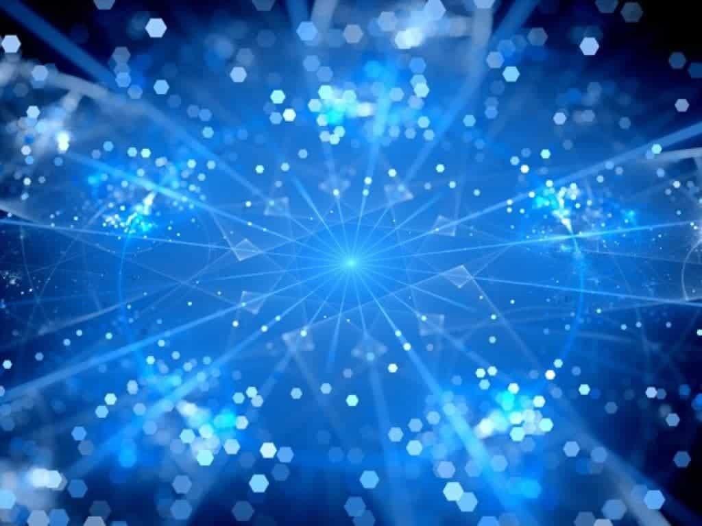 Fondo abstracto de información a gran volumen en azul brillante