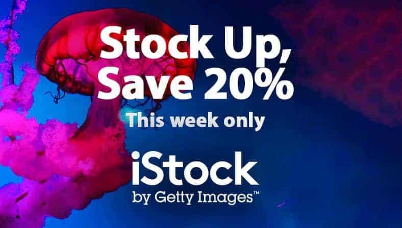iStock 20% de Descuento en Todos los Packs de Créditos