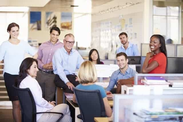 Reunión de Negocios Oficina Abierta