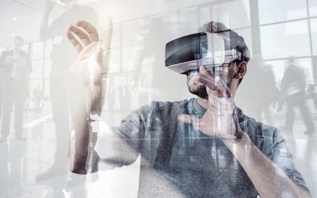 Hombre Tecnología Realidad Virtual