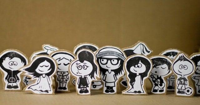 Figuras Carton Caricaturas Personas Felices