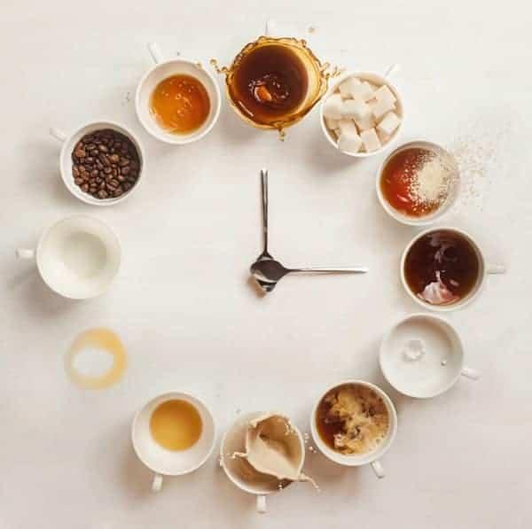 Reloj Abstracto Tazas Cafe