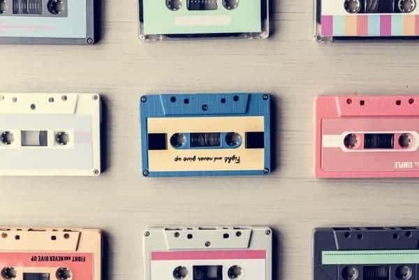 Cintas Casettes Vintage Pastel