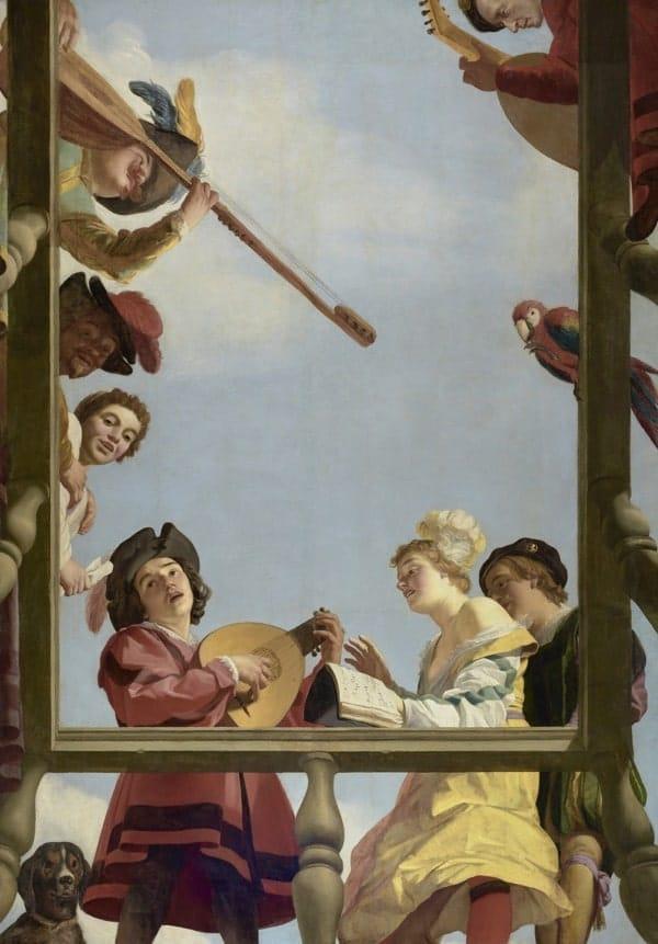 Cuadro Clasico Rococo Musicos