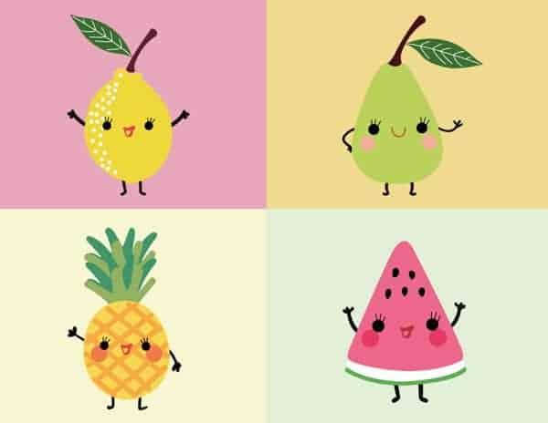 Caricaturas Simpaticas Frutas