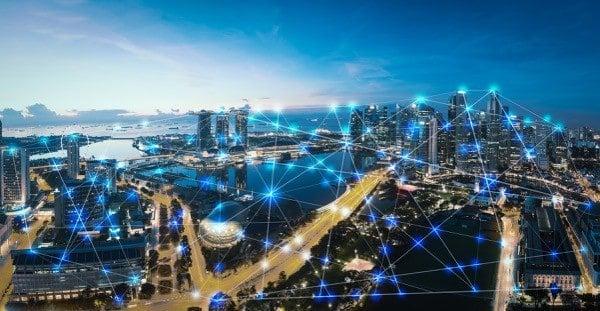 ciudad paisaje lineas conectividad comunicacion
