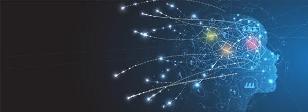 silueta humana abstracta tecnologia inteligencia