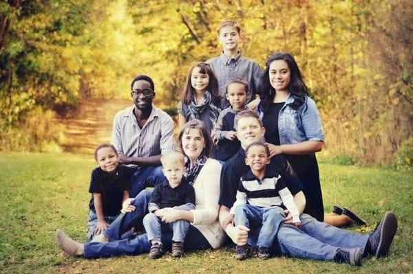 retrato familia numerosa diversidad exterior