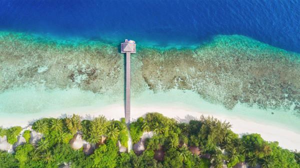 Vista Aerea Maldivas Playa Villa