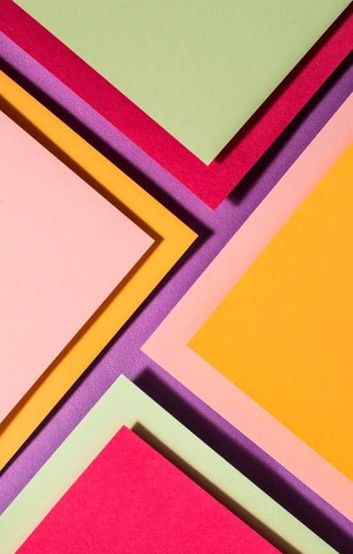 Papel Recortado Colores Geometrico