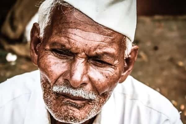 Hombre Indio Mayor Calle India