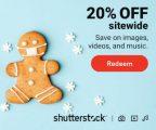 Obtén un 20% de descuento en Shutterstock en: Imágenes, Videos y Música