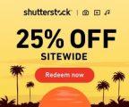 Obtén un 25% de descuento en Shutterstock: suscripciones y paquetes de imágenes!